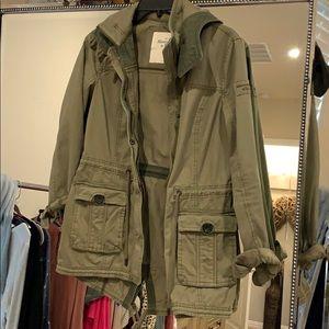 Abercrombie cargo utility jacket, size small